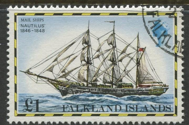 Falkland Is.- Scott 273 - Ships Issue - 1978 - VFU - Single £1 Stamp
