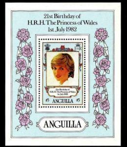 ANGUILLA - 1982 - PRINCESS DIANA - 21st BIRTHDAY - MINT - MNH S/SHEET!