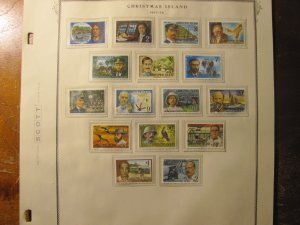 Christmas Island Stamps # 69-84  mnh 1977-78