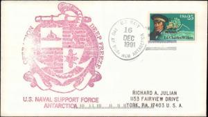 United States #124, Antarctic/Arctic, Cachet and/or Cancel