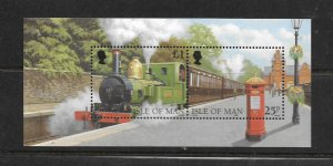 ISLE OF MAN, 785, MNH, SS, LOCOMOTIVE