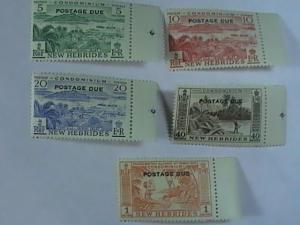 NEW HEBRIDES # J16-J20-MINT/NEVER HINGED-COMPLETE SET-POSTAGE DUE--QEII--1953 #2