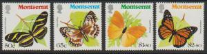 Montserrat SG 486 - 489 set of 4   MVLH  -Butterflies
