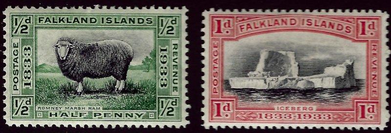 Falkland Islands SC#65-66 Mint F-VF hr...Fill a Key Spot!!