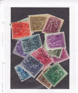 Hungary # 511-524, Complete Set, Used, 1/3 Cat.