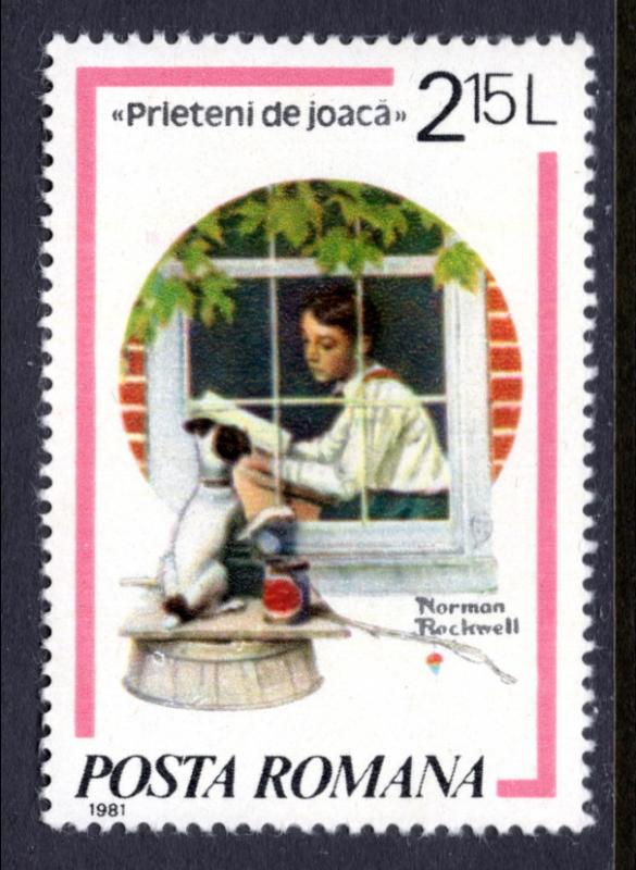 Romania 3039 Norman Rockwell MNH VF