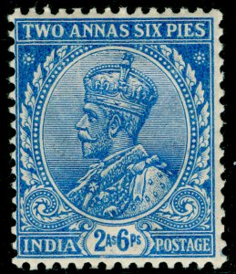 INDIA SG170, 2a 6p ultramarine, M MINT.