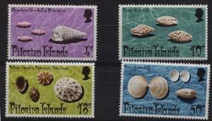 Pitcairn Islands - 1974 Shells Complete mint #137-140