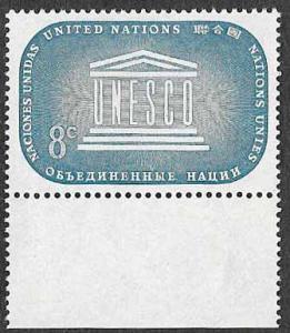 UN New York SC 34 - UNESCO Emblem - MNH - 1955