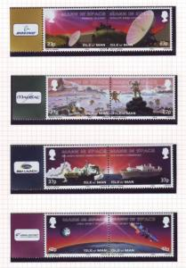 Isle of Man Sc 981-4 2003 Space Exploration stamp set mint NH