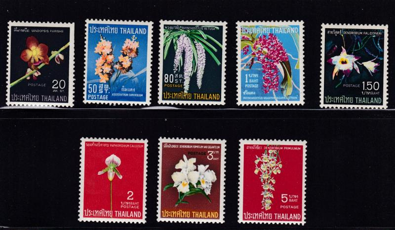 Thailand 1967 ORCHIDS set Complete (8) VF/Mint(*)