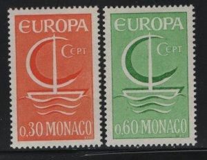 MONACO, 639-640 HINGED 1966 Europa issue common design