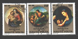 Upper Volta. 1980. 814-16. Christmas. USED.