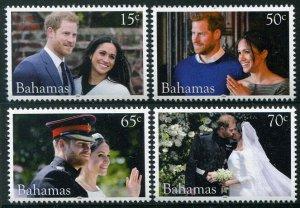 HERRICKSTAMP NEW ISSUES BAHAMAS Sc.# 1478-81 Royal Wedding Prince Harry