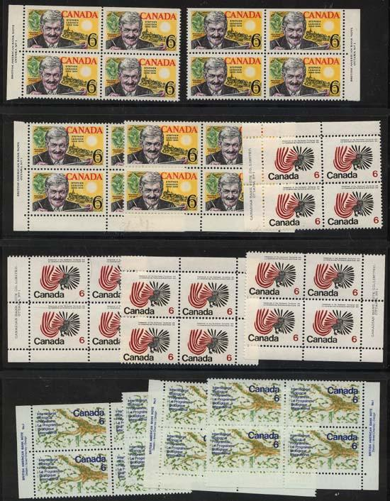 Canada - Three Issues in Matched Sets mint #504, #506-7