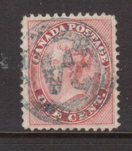 Canada #14 XF Used With Rare 4 Ring 34 In Blue