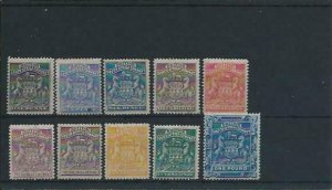RHODESIA 1892-93 SET TO £1 WITH 6d & 2s6d SHADES MM SG 1/10 CAT £845