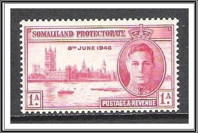 Somaliland Protectorate #108 Peace Issue MH
