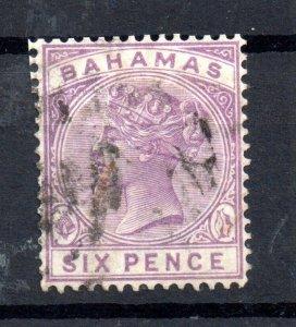 Bahamas QV 1890 6d mauve SG54 fine used WS15523