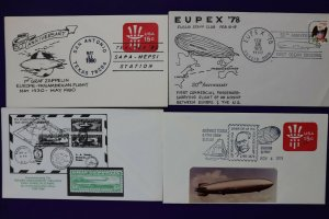 Graf Zeppelin Hindenburg airship balloon theme philatelic cachet cover expo lot
