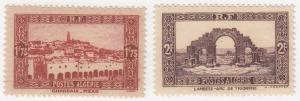 Algeria, Sc # 100-101, MH, 1936-41, View of Ghardara