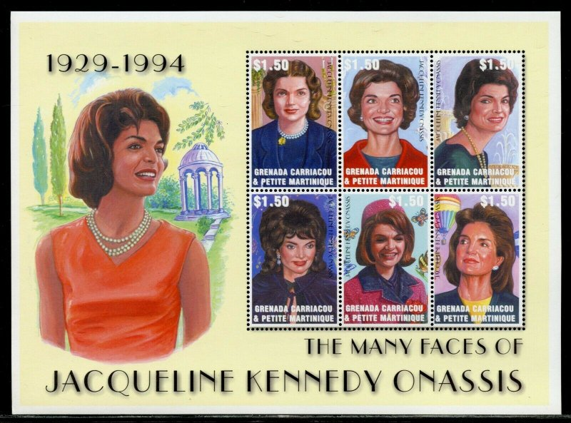 Grenada Carriacou MNH S/S Jacqueline Kennedy Onassis