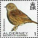 Alderney 1p Bird definitive issued 21 January 2020. Cat no. 658 (Stampworld.com)