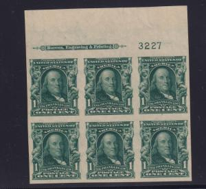 314 Plateblock TOP XF original gum mint never hinged with color ! see pic !