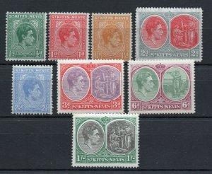 Saint Kitts-Nevis - SG# 68 - 75 MH / Perf 14   /   Lot 0120186
