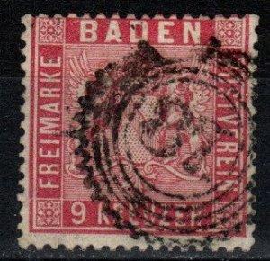 Baden #14 F-VF Used Signed Richter  CV $175.00 (V5356)