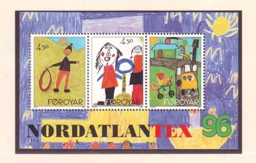 Faroe Islands Sc 304 1996 NORDATLANTEX stamp sheet mint NH