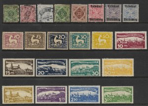 1900's Germany Wurttemberg Range Mixed lot mostly VF