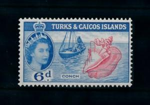 [99670] Turks & Caicos Isl. 1957 Marine Life Sea shell Fishing From set MNH