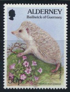 GB Alderney  SG A75 MNH   50p Pale Spined Hedgehog  1994 SC# 85 See scan