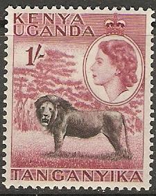 Kenya Uganda Tanganyika 1954 Scott 112 Queen&Lion MLH
