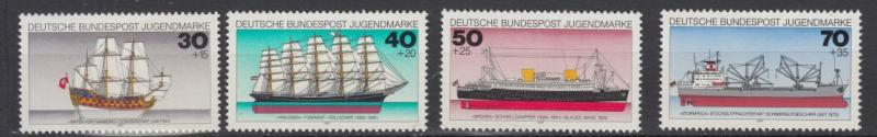 Germany - 1977 Historic Ships complete set - MNH (1693)