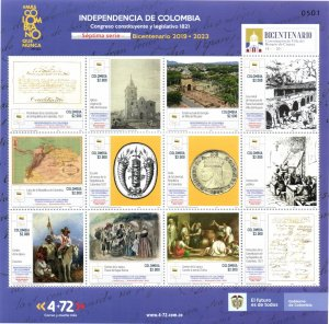 O) 2021 COLOMBIA, INDEPENDENCE OF COLOMBIA, CONSTITUENT CONGRESS OF 1821