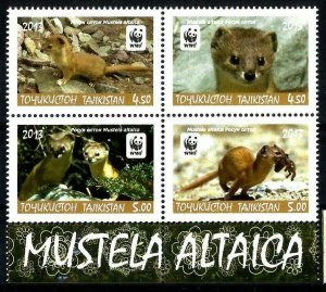 Tajikistan 2013  fauna  WWF 4v MNH
