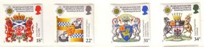 Great Britain Sc 1184-7 1987 Orders stamp set mint NH