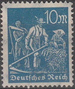 Stamp Germany Reich Mi 239 Sc 222 1922 Worker Mower Deutsches Empire Worker MNH