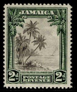 JAMAICA GV SG111, 2d black & green, M MINT. Cat £38.