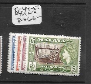 MALAYA PENANG  (PP0109B) QEII SG 44-54  MNH