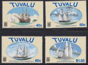 Tuvalu # 768-771, Sailing Ships, NH, 1/2 Cat.