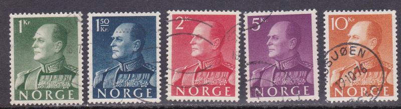 Norway # 370-374, Used Set, 1/2 Cat.