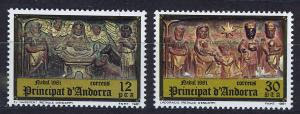 ANDORRA SPANISH 1981 MNH SC.130/131 Christmas