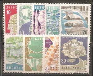 Yugoslavia  SC  527-35 Mint, Never Hinged