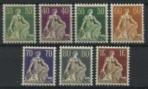 Switzerland 1907-24 various values from 35 centimes to 1 franc mint o.g. hinged