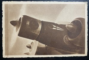 Mint Italy WW2 Advertising Picture postcard Bomber In Flight Italian Air Force