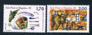 St Pierre and Miquelon 679-80 MNH set Horseshoeing 1999 (S0957)+