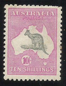 Australia 55 10 Sh/ MH F/VF Centering Tiny perf tear visible right upper edge